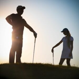 Golf club distances vary for men and women.
