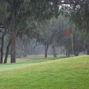 Golfing in the rain will affect your average club distance