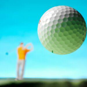 Golf ball in air