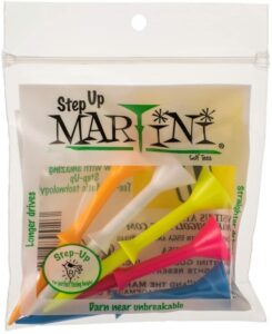 """Martini 3 1/4"""" Step-Up Assorted Golf Tees"""