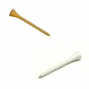 Wood vs plastic golf tees